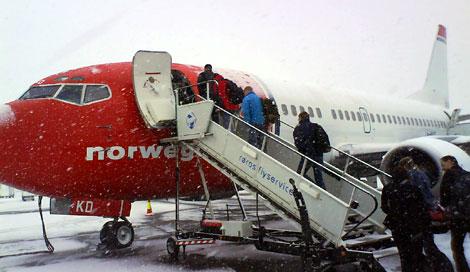 sjekke inn norwegian